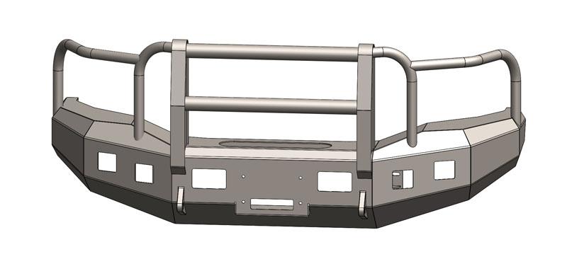 Engo 68-G15-18FG Sierra 2500/3500 Front Winch Bumper w/Full Grill Guard 15-18 GMC Sierra 2500/3500
