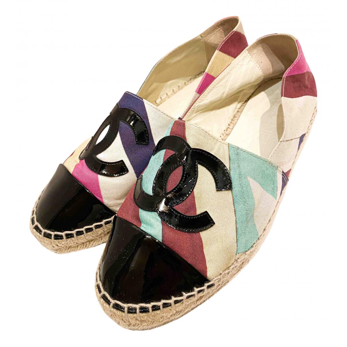 Chanel - Espadrilles   pour femme en toile - multicolore