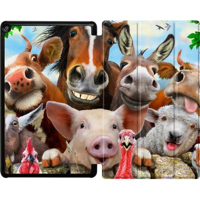 Amazon Fire HD 10 (2018) Tablet Smart Case - Farm Selfie von Howard Robinson