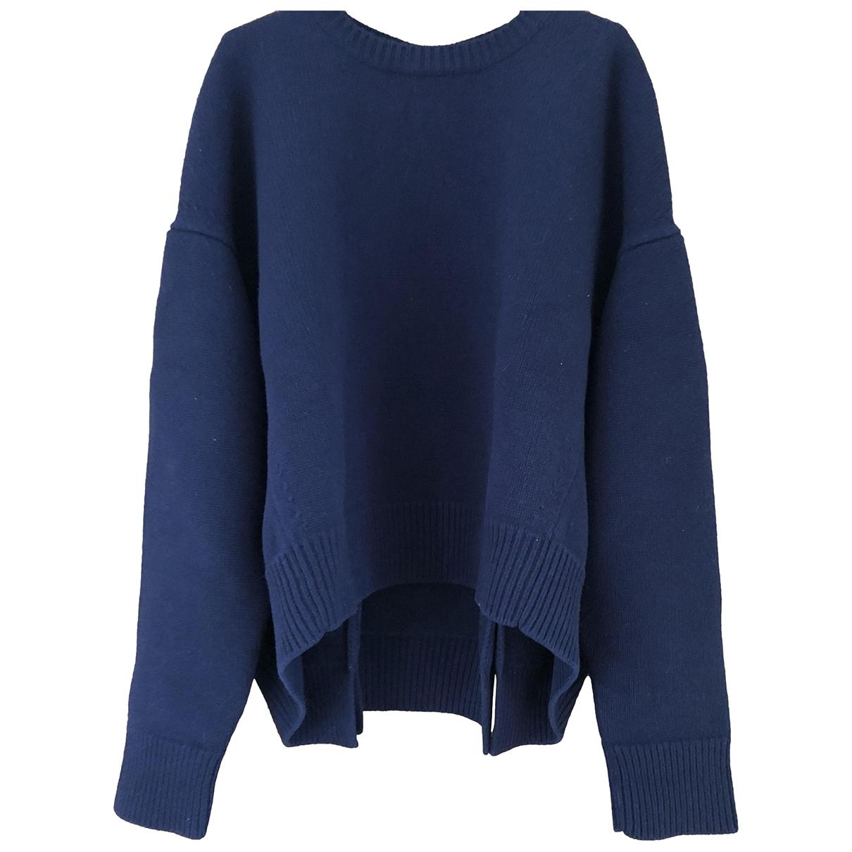 Celine \N Pullover in  Blau Wolle