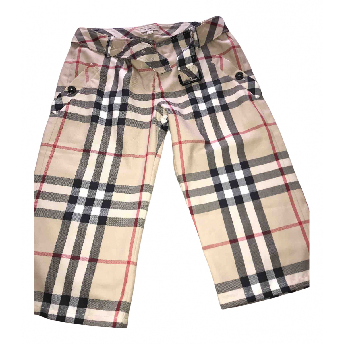 Burberry N Camel Cotton Shorts for Kids 14 years - S FR