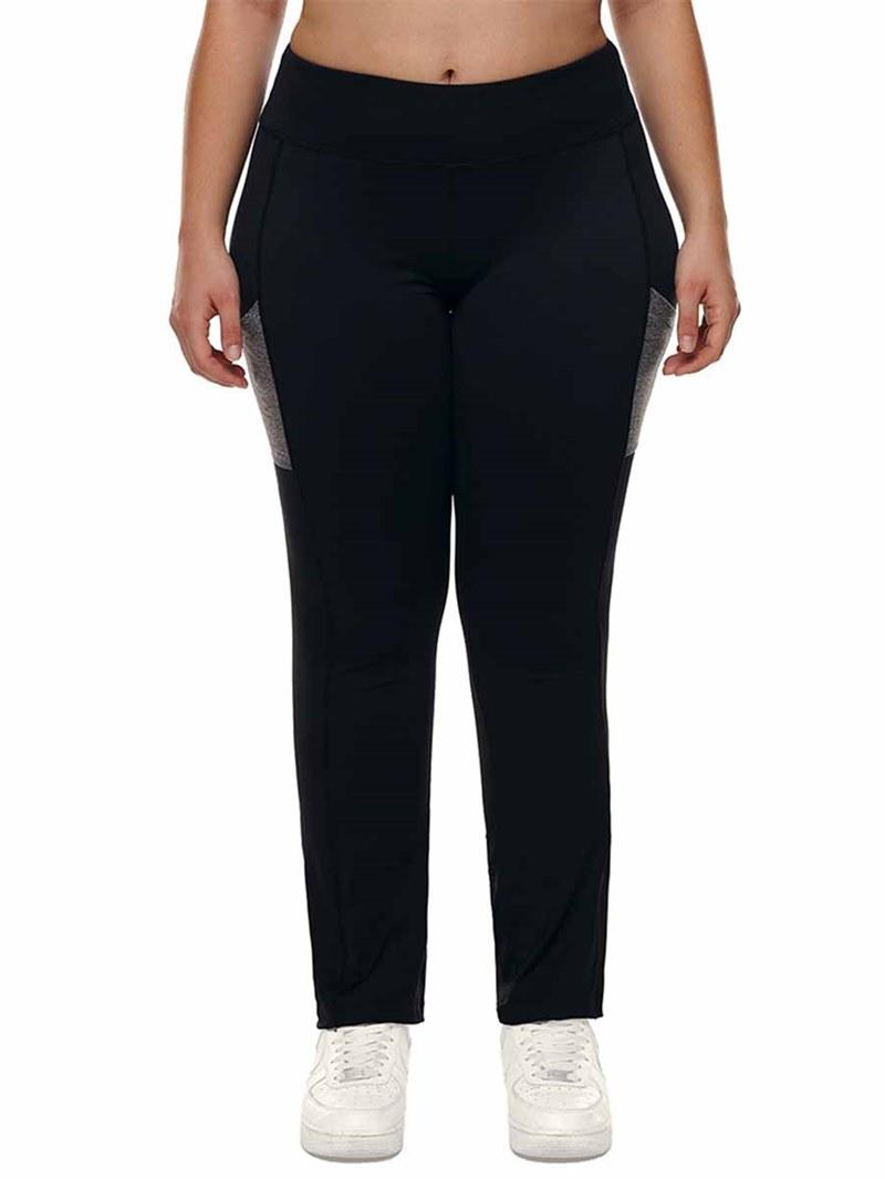 Ericdress Women Plus Size Color Block Gym Sports Pants