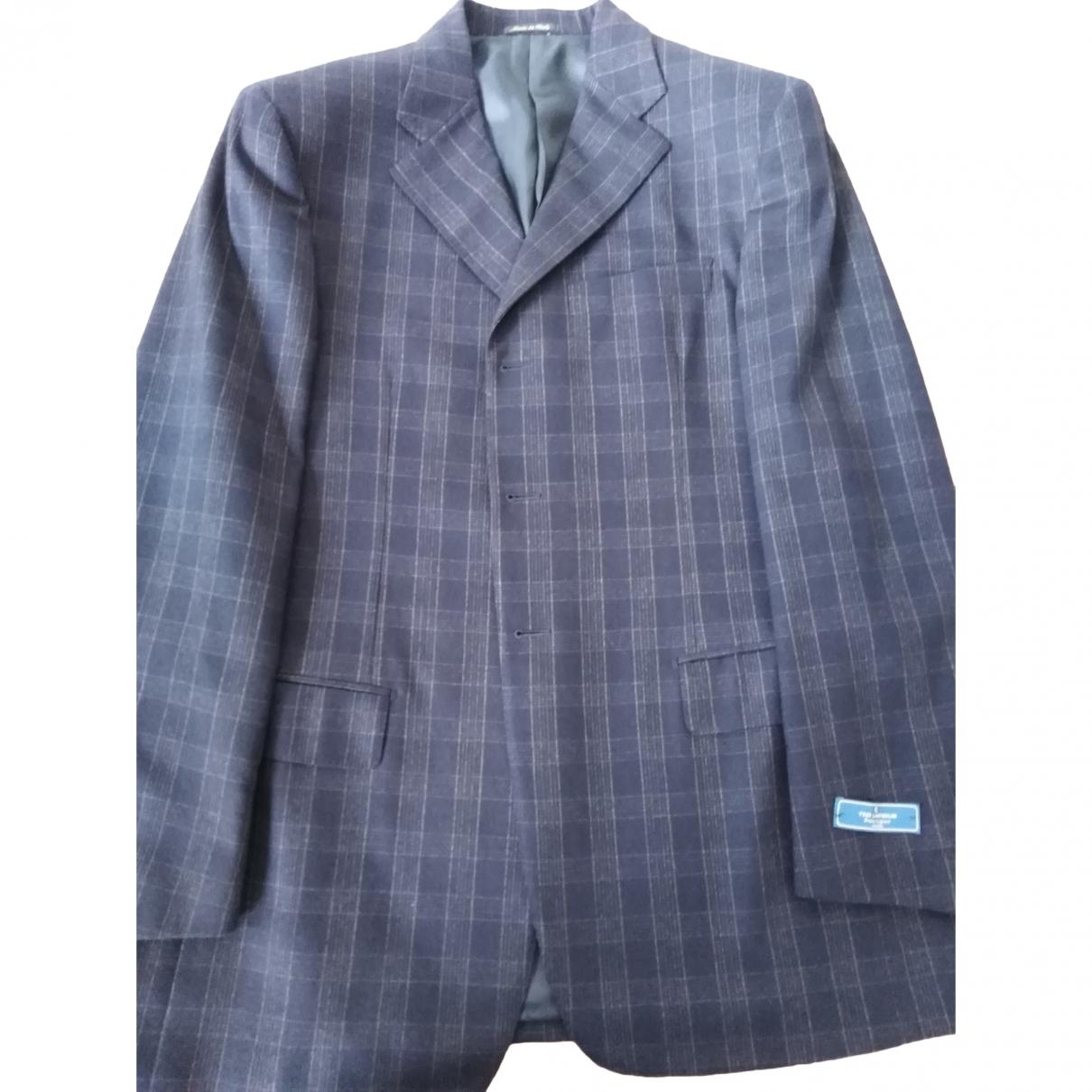 Ted Lapidus - Costumes   pour homme en laine - bleu