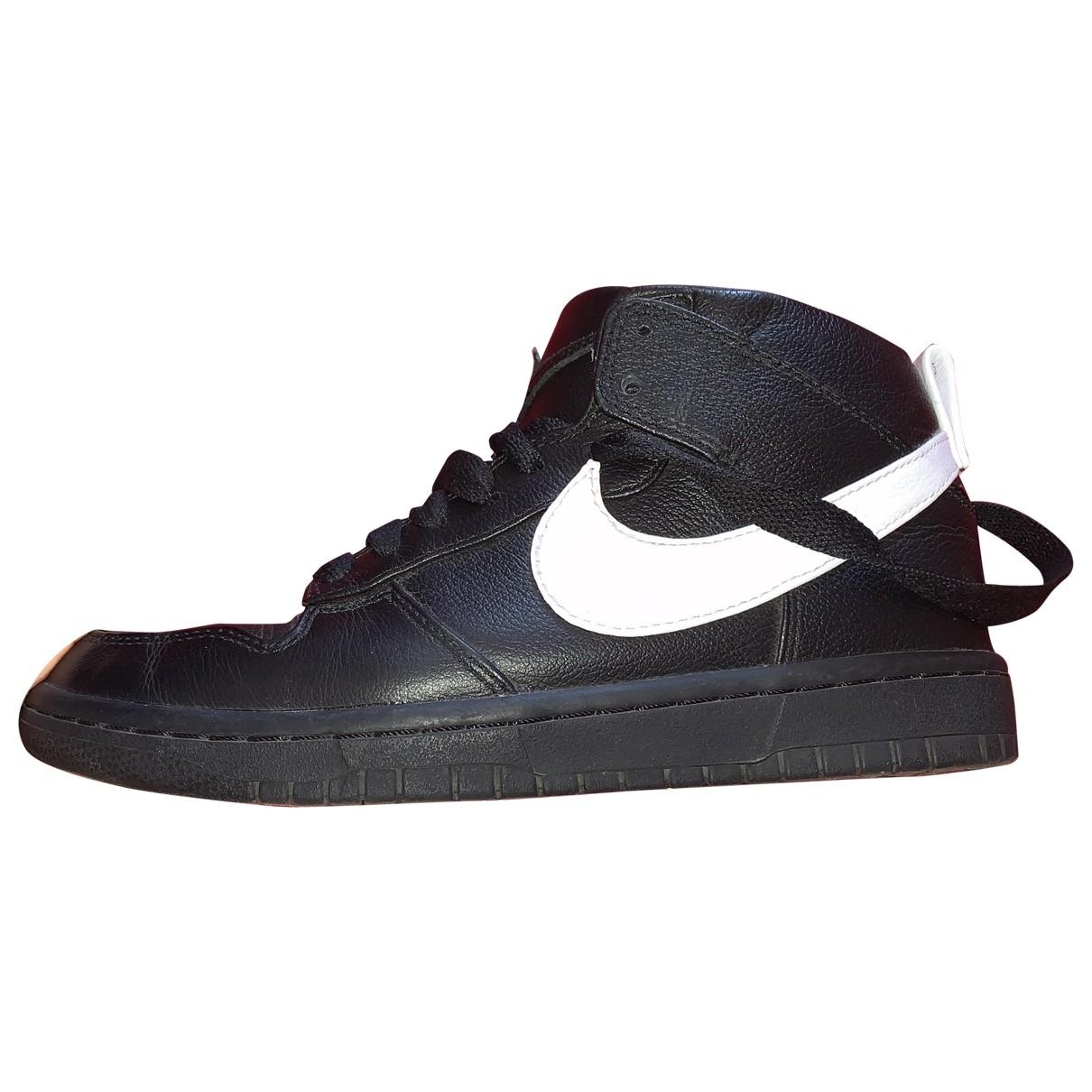 Nike By Riccardo Tisci - Baskets   pour femme en cuir - noir
