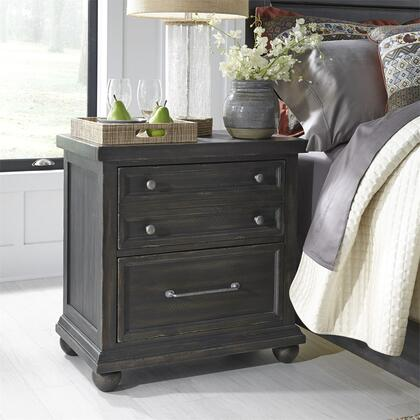 Harvest Home 879-BR61 Nightstand with Charging Station 3 Drawers  French and English Dovetail Construction  Felt Lined Top Drawers  Cedar Lined