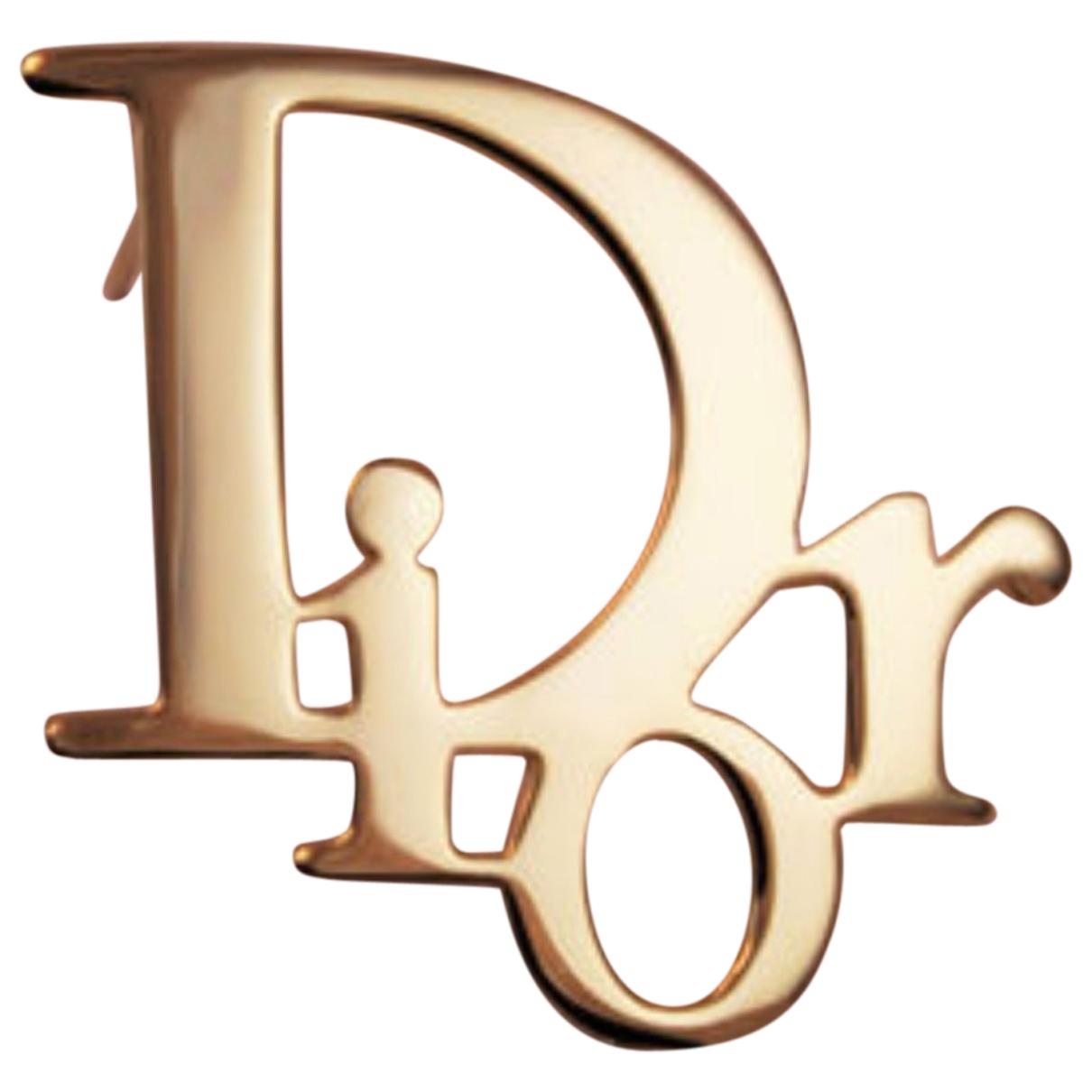 Dior - Broche Dior Oblique pour femme en metal - dore
