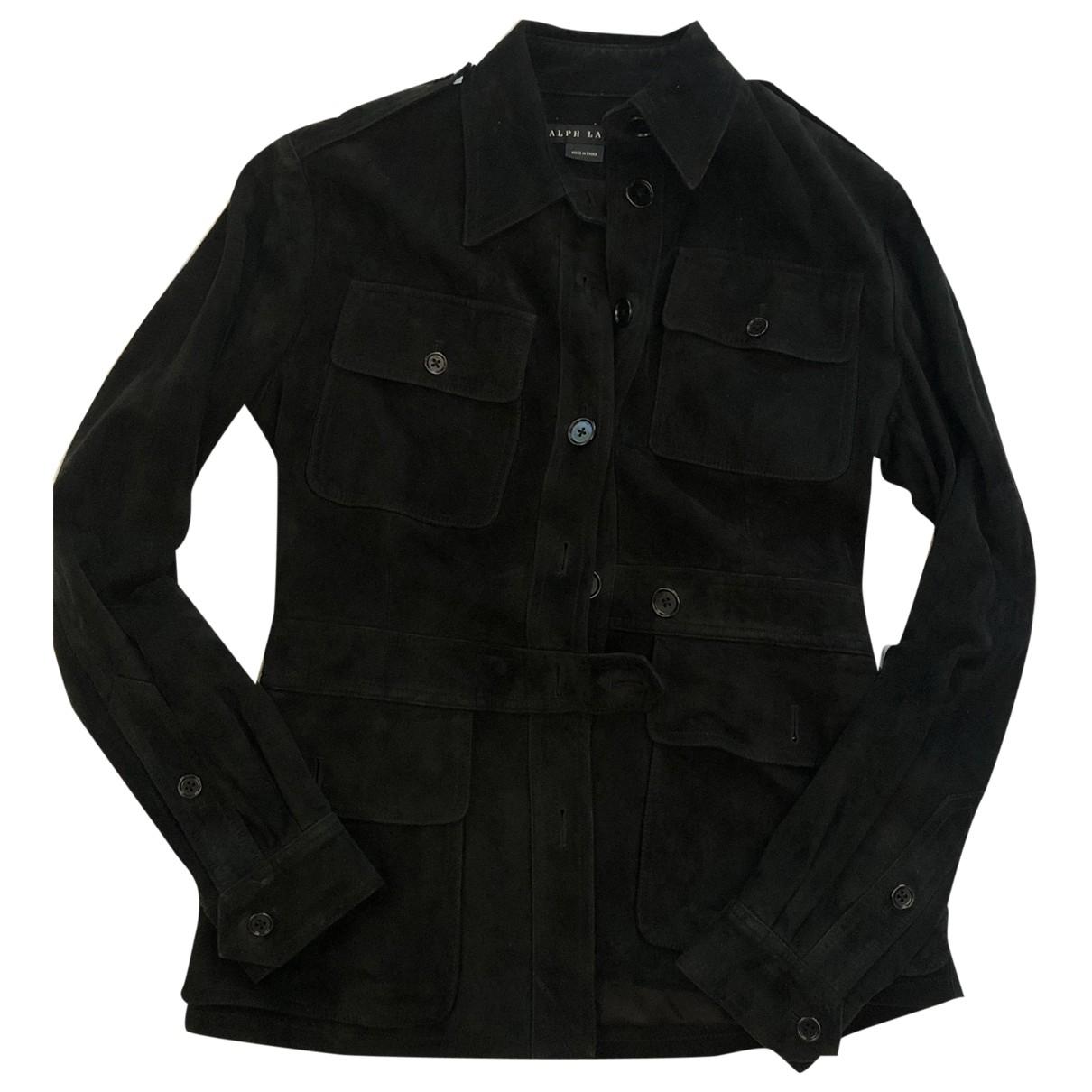 Ralph Lauren - Veste   pour femme en suede - noir