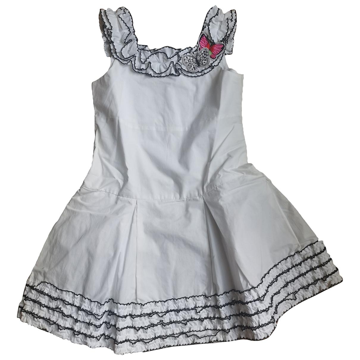 Simonetta - Robe    pour enfant en coton - blanc