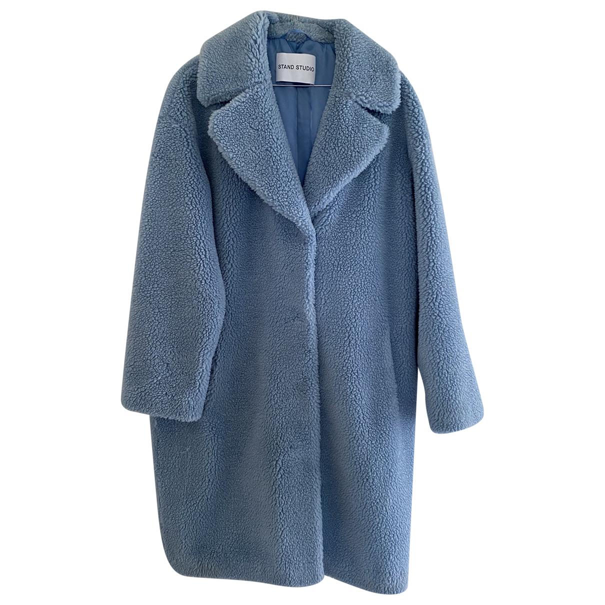 Stand Studio - Manteau   pour femme en fourrure synthetique - bleu