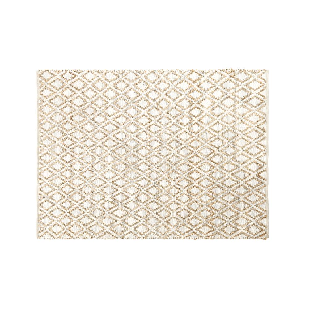 Teppich aus Baumwolle und Jute mit Rhombenmotiv 160x230