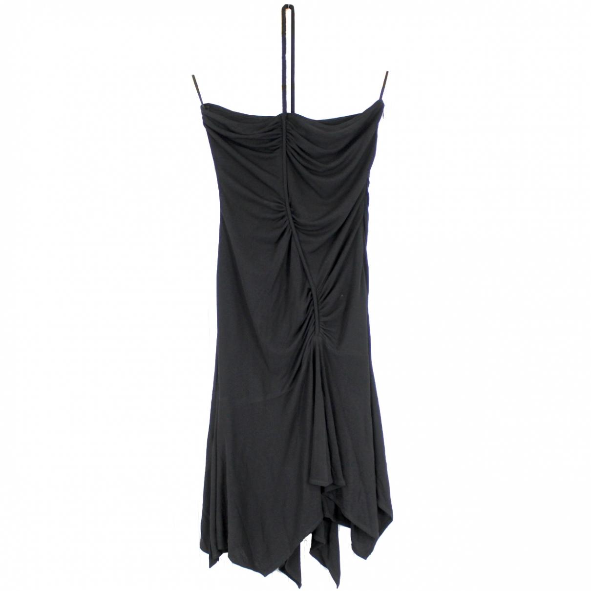 Versace \N Kleid in  Schwarz Synthetik