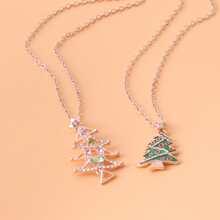2 piezas collar de niñas con arbol de navidad