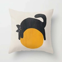 Kissenbezug mit Katze auf Ball Muster