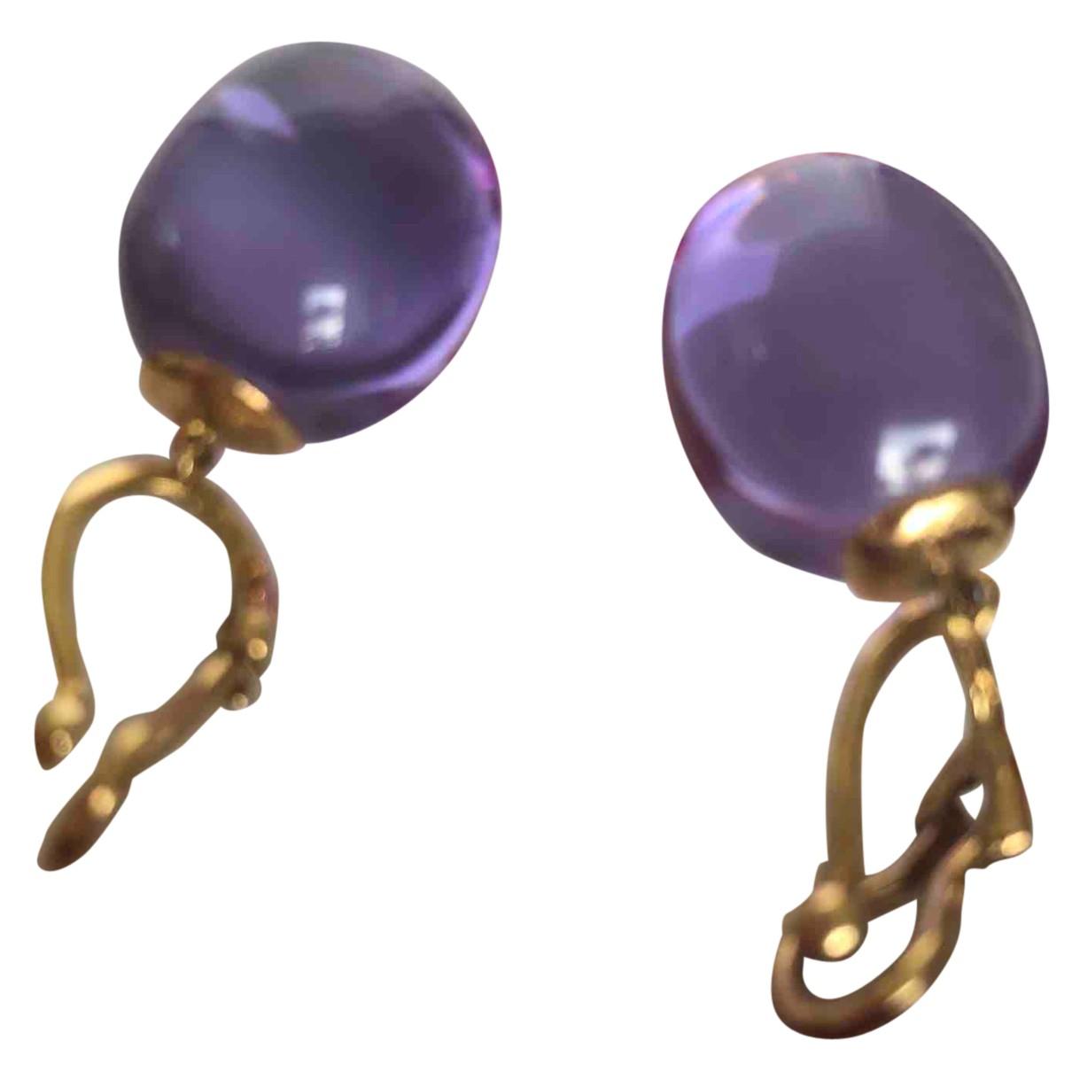 Baccarat - Boucles doreilles   pour femme en cristal - violet