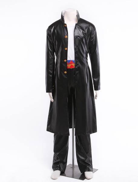Milanoo JoJo's Bizarre Adventure Kujo Jotaro Leather Anime Character Costume Halloween