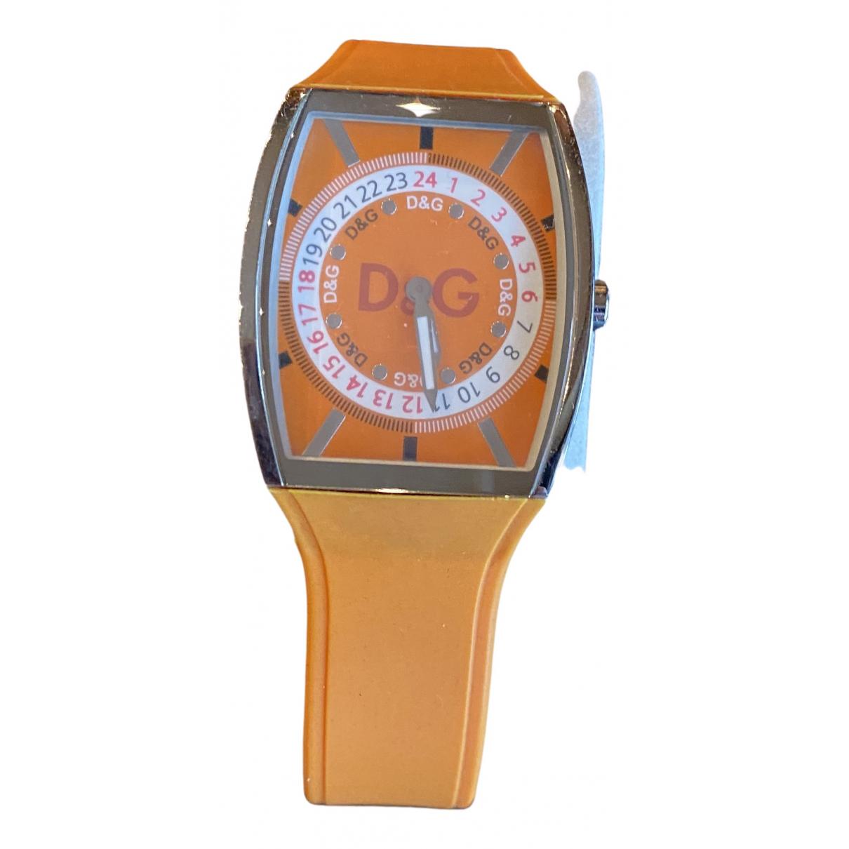 D&g - Montre   pour femme en acier - orange