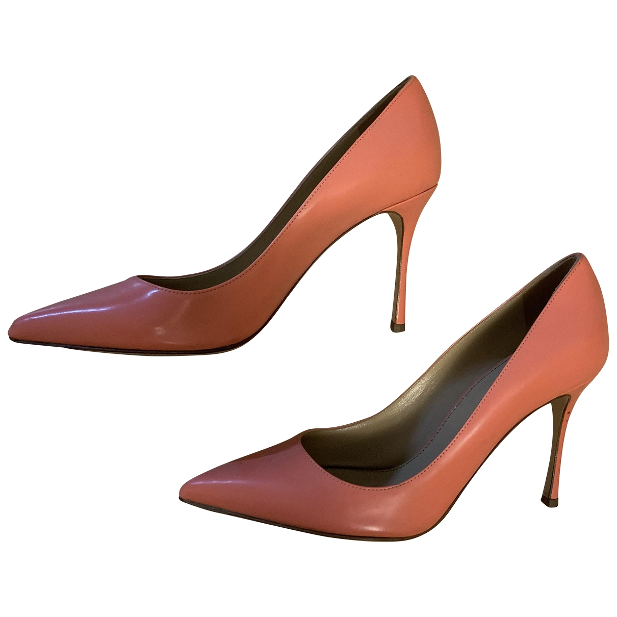Sergio Rossi \N Pink Leather Heels for Women 37 EU