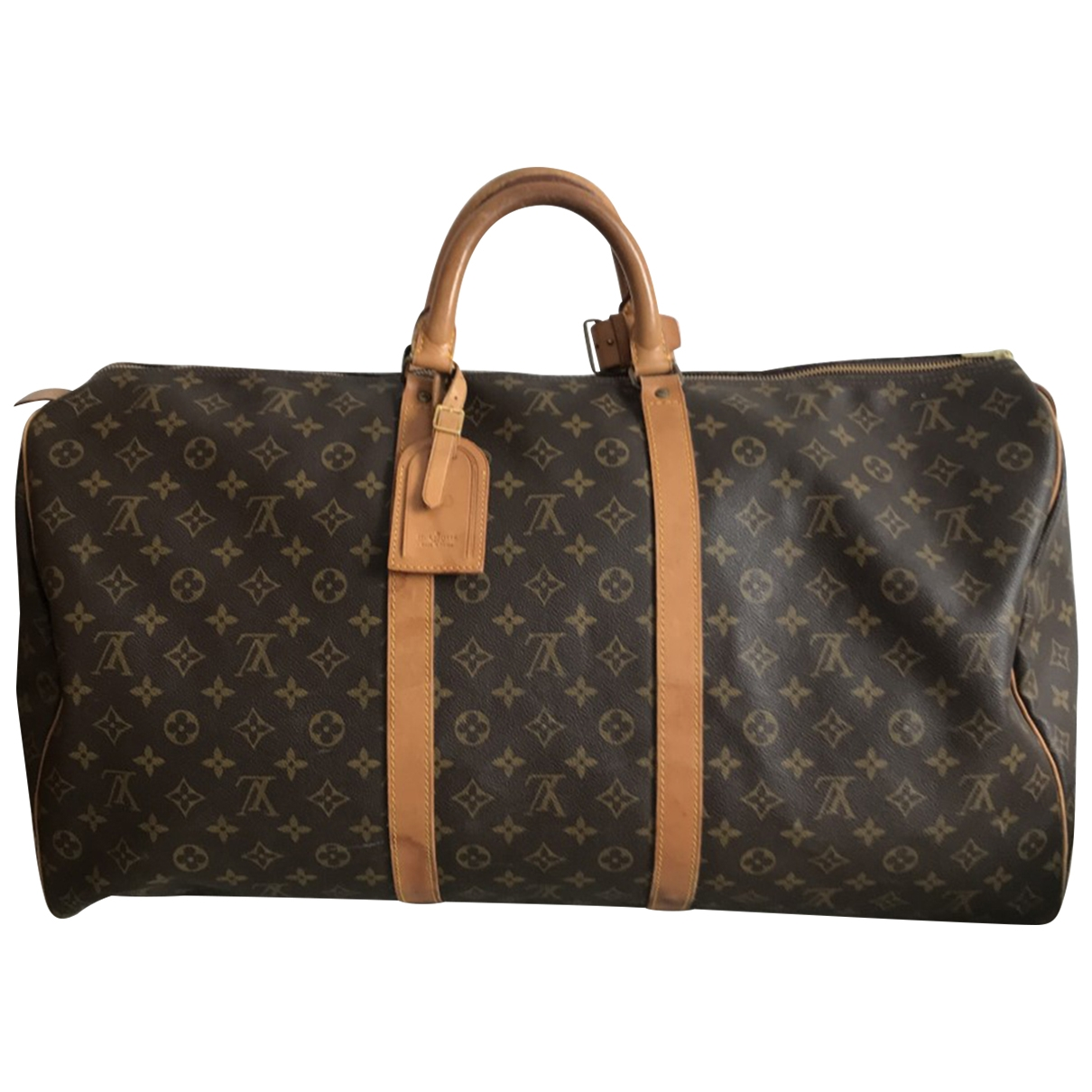 Louis Vuitton Keepall Brown Cloth Travel bag for Women \N