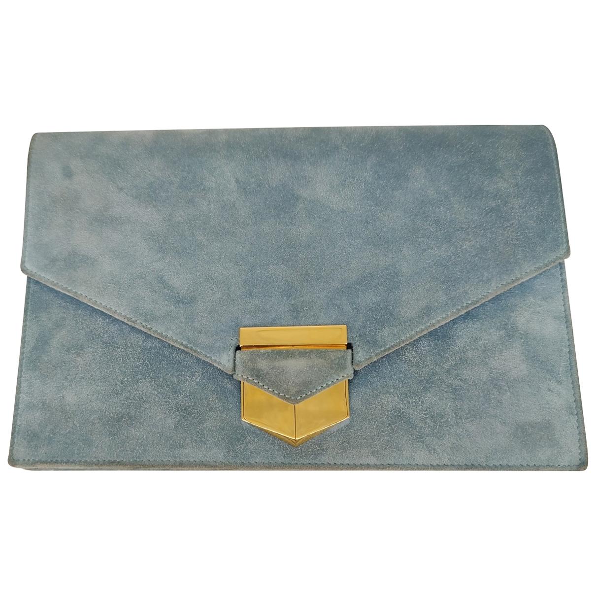 Bolsos clutch en Ante Azul Hermes