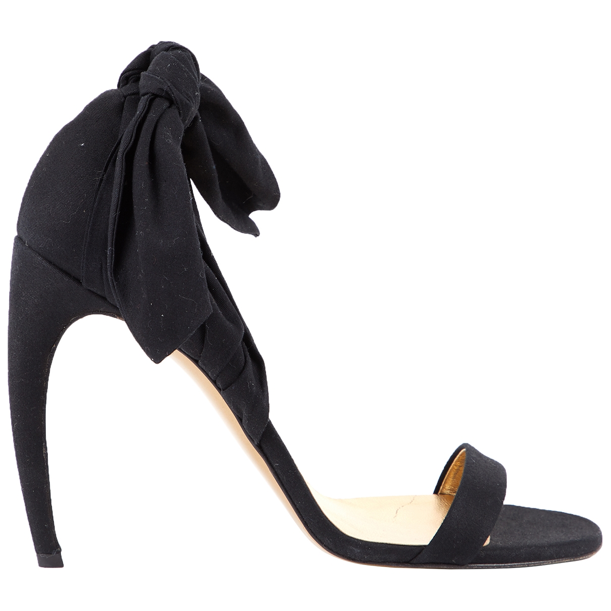 Steiger - Sandales   pour femme en toile - noir