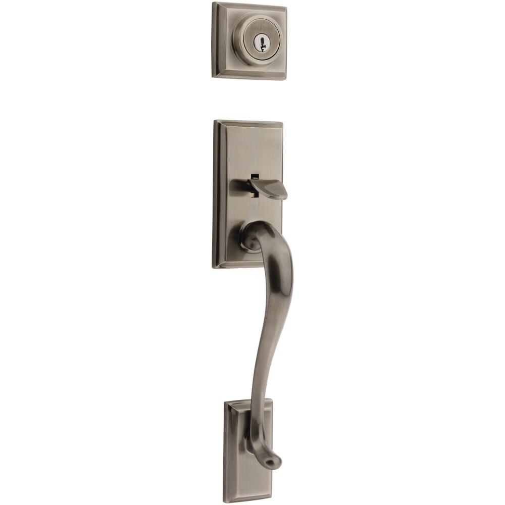 Kwikset 802HE-LIP Signature Series Hawthorne Dummy Handleset - (Satin Nickel)
