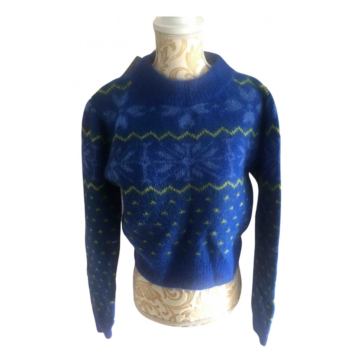 Zara - Pull   pour femme en laine - marine