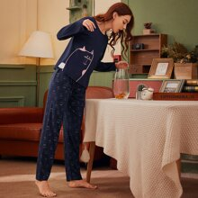 Pajama Set mit Katze Muster