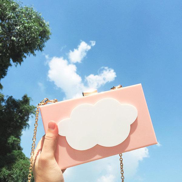 Women Cloud Acrylic Crossbody Bag Chains Shoulder Bag