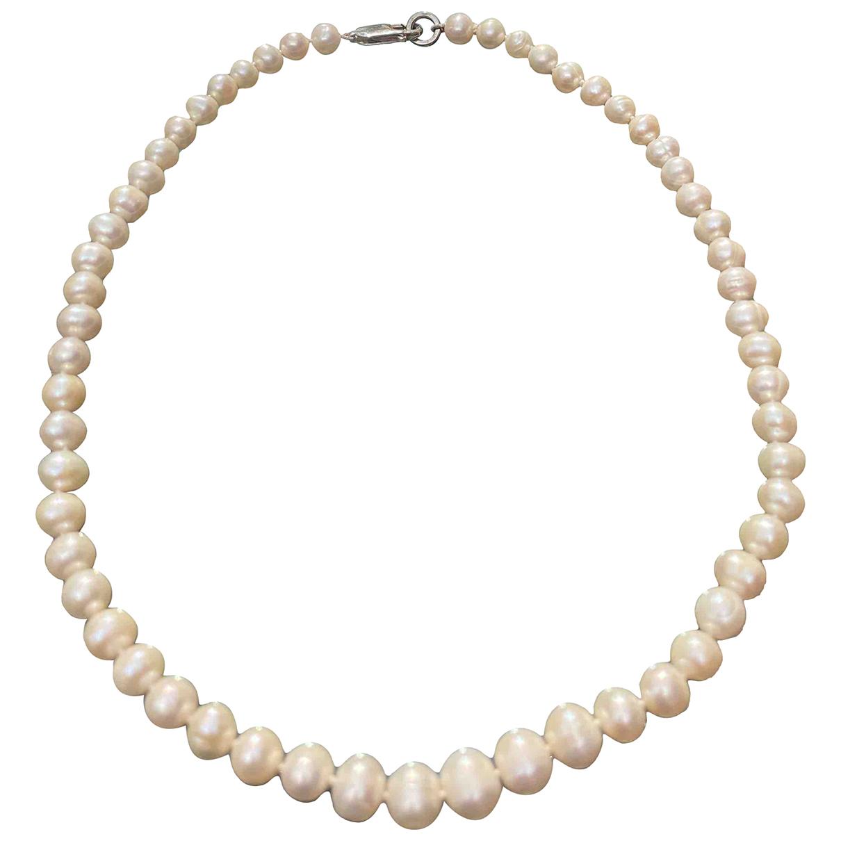 - Collier Opale pour femme en perle - beige