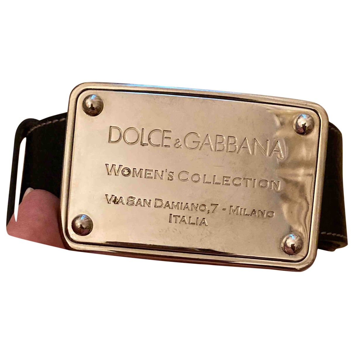 Dolce & Gabbana N Black Leather belt for Women 90 cm