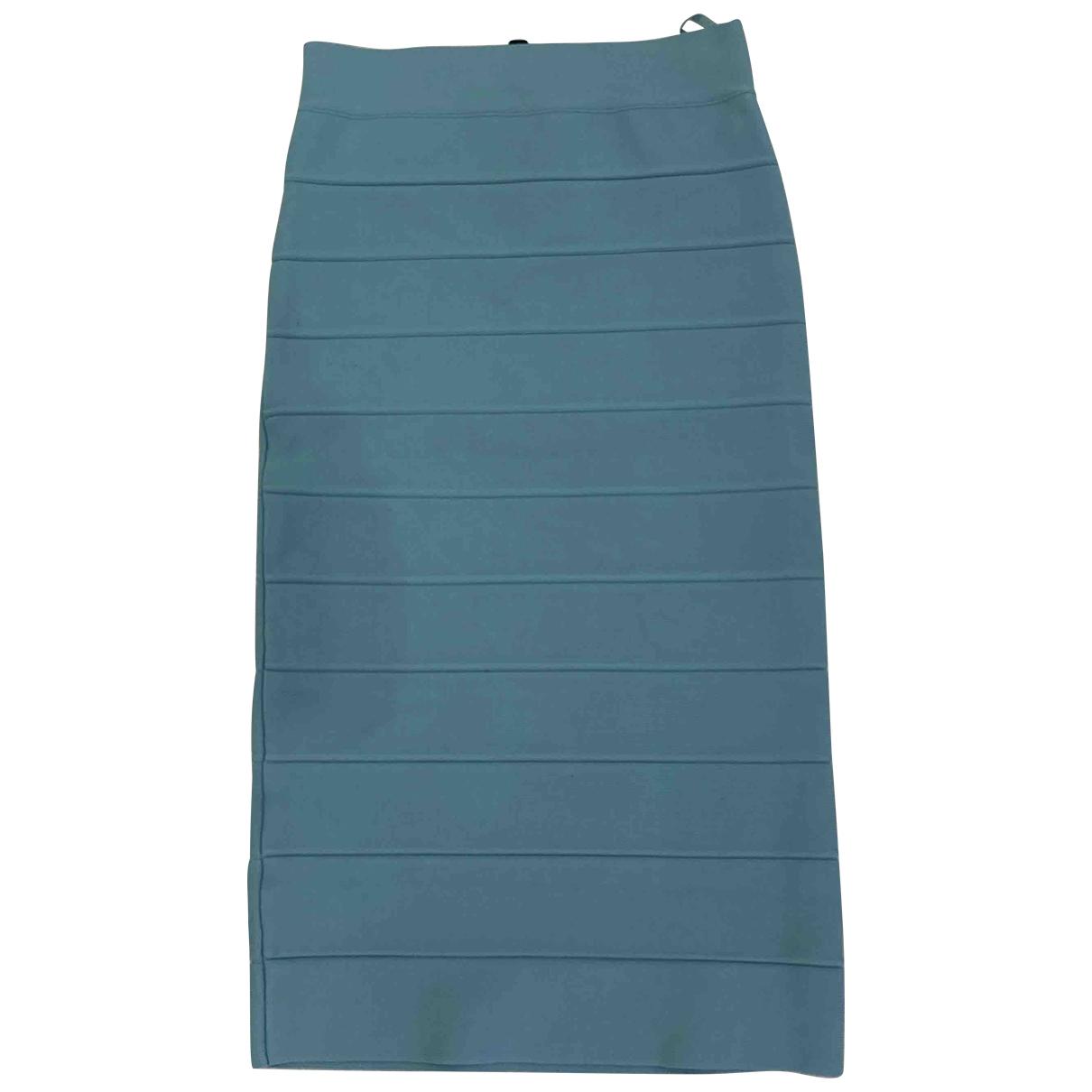 Bcbg Max Azria \N Blue Cotton - elasthane skirt for Women XS International