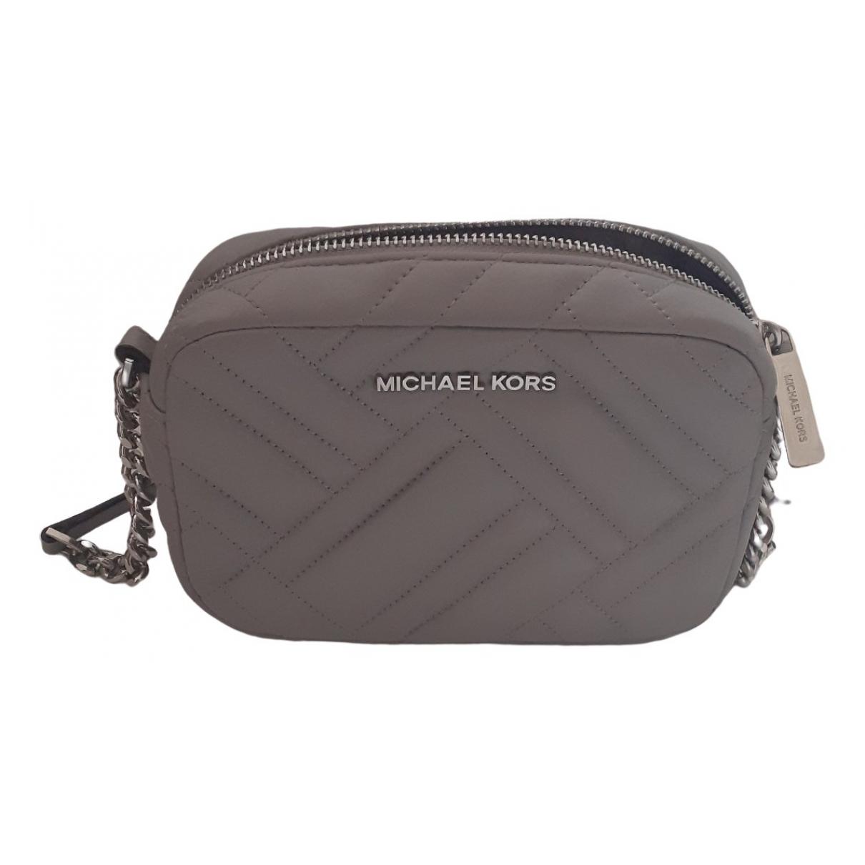Michael Kors Sloan Handtasche in  Grau Leder