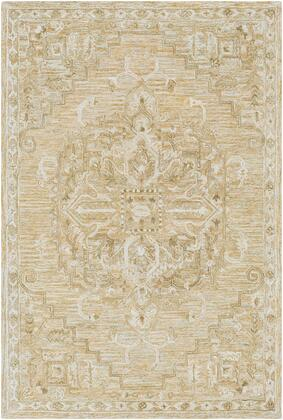Shelby SBY-1006 9' x 13' Rectangle Traditional Rug in Burnt Orange  Olive  Khaki  Tan  Cream