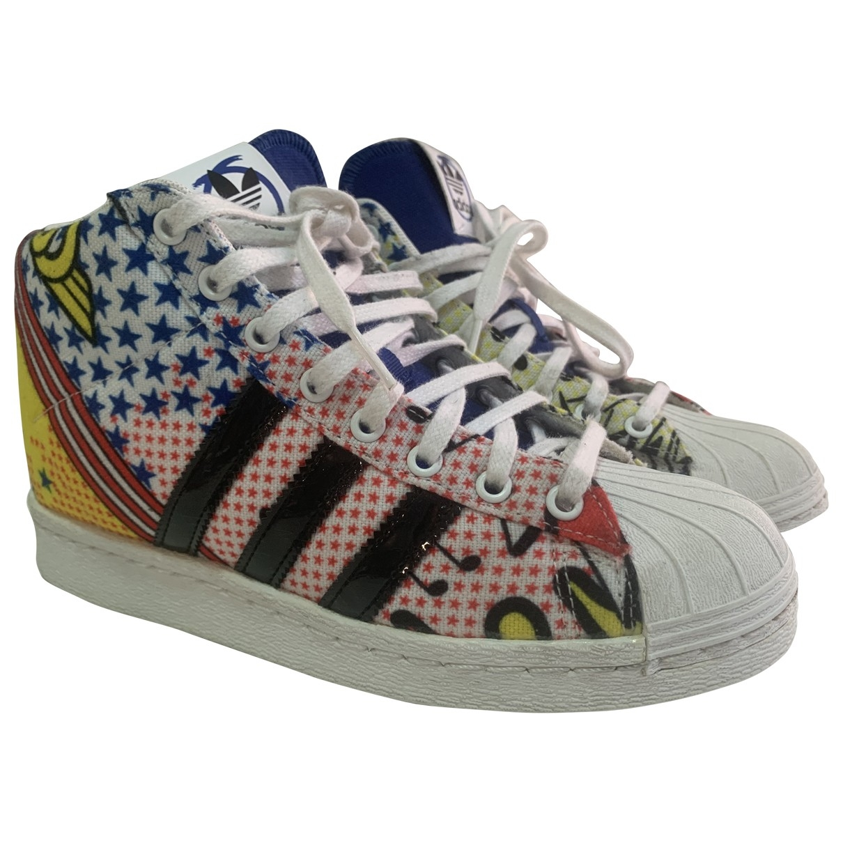 Adidas - Baskets Superstar pour femme en toile - multicolore