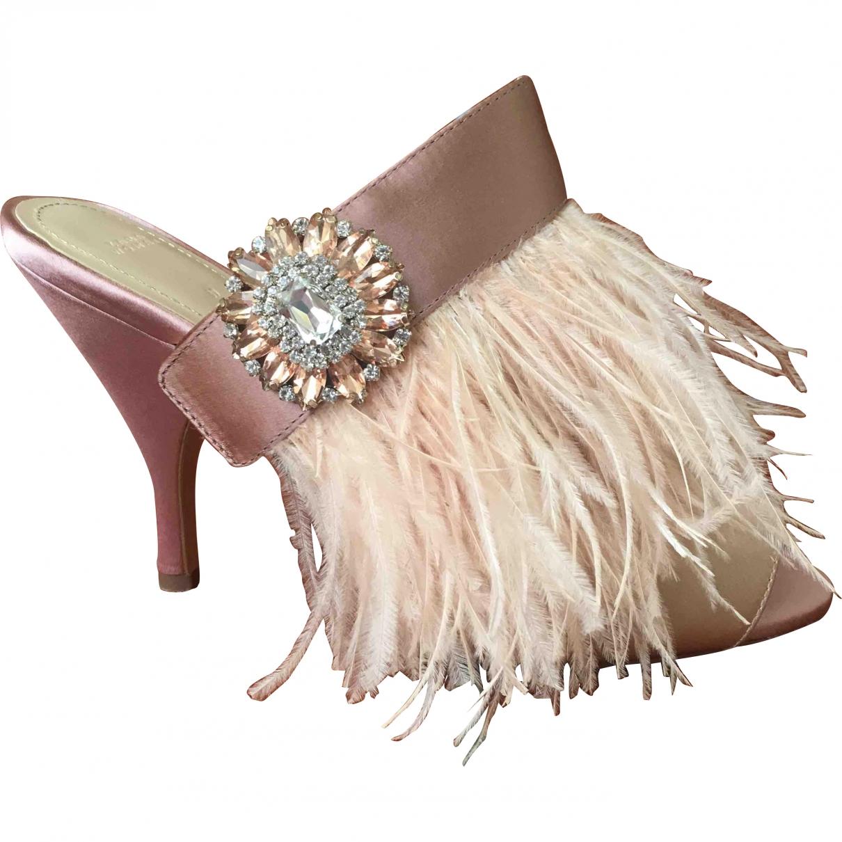Zara \N Pink Cloth Heels for Women 39 EU