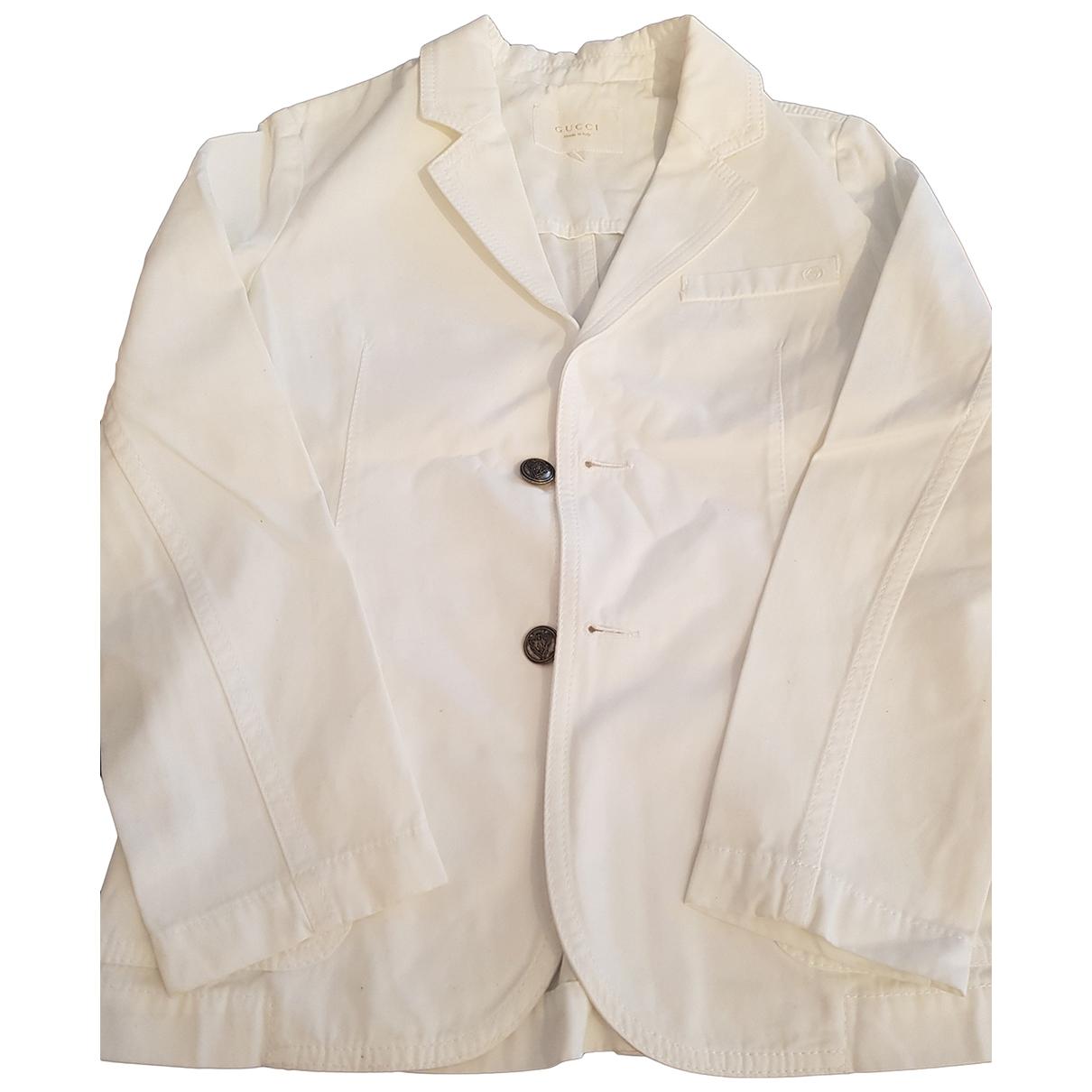 Gucci - Blousons.Manteaux   pour enfant en coton - blanc