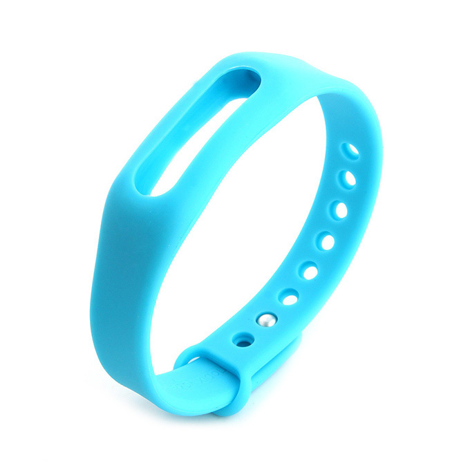 Replacement Wrist Strap Wearable Wrist Band for XIAOMI MI Band Bluetooth Bracelet - Blue