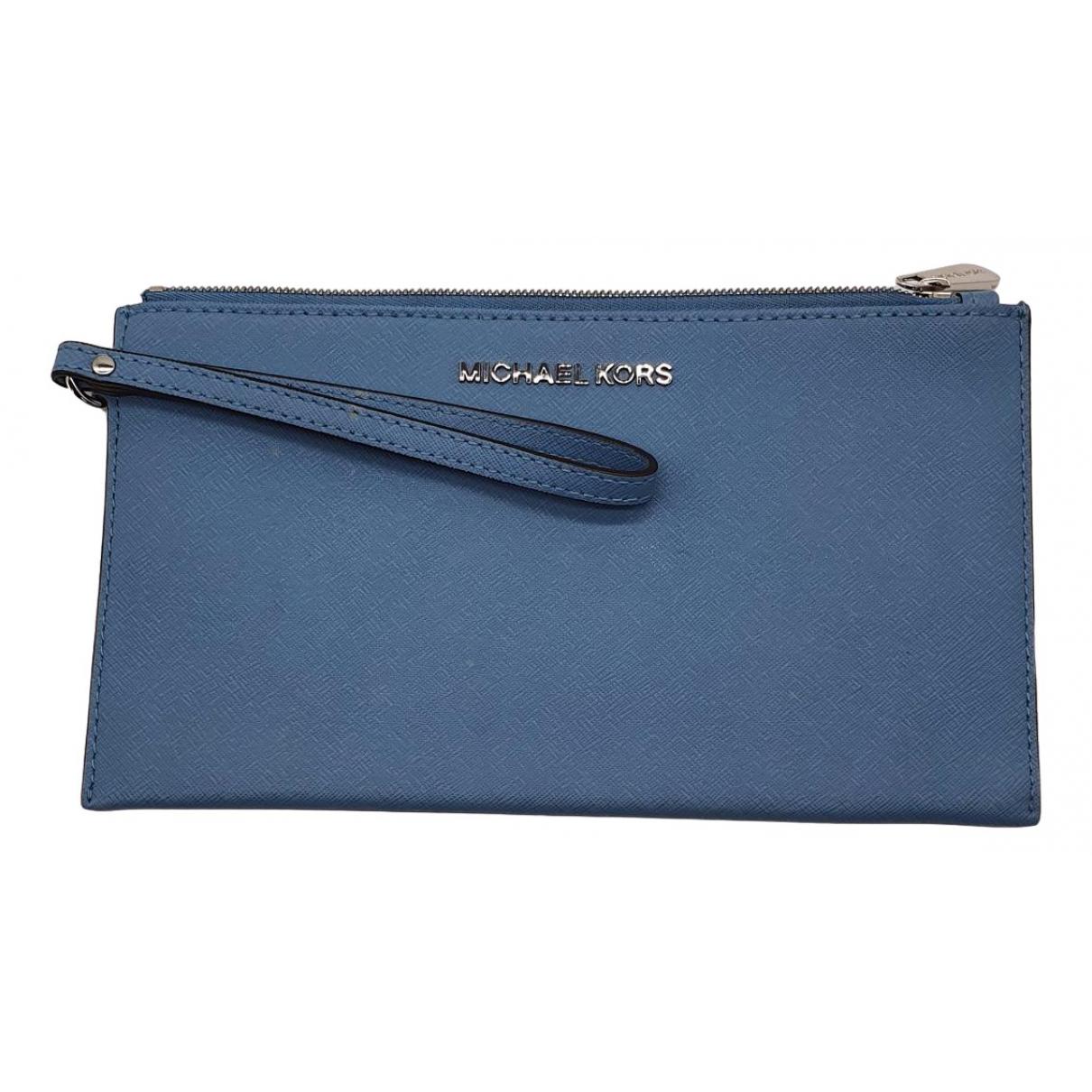 Michael Kors N Blue Leather Clutch bag for Women N