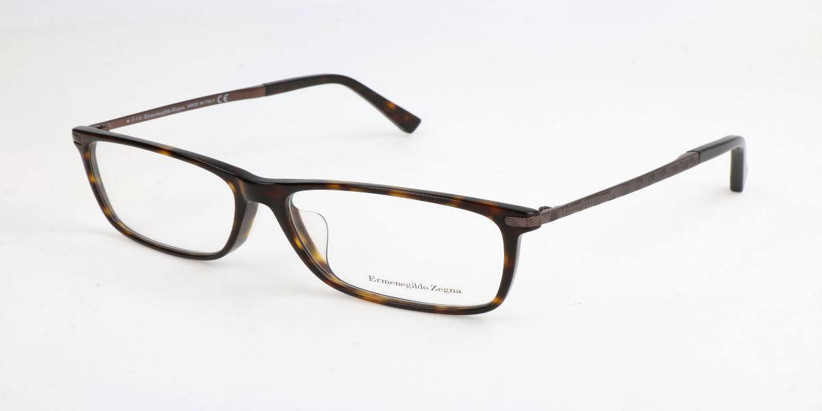Ermenegildo Zegna EZ5060F Asian Fit 052 Men's Glasses Brown Size 57 - Free Lenses - HSA/FSA Insurance - Blue Light Block Available