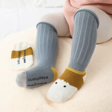 2 Paare Baby Socken mit Karikatur Grafik