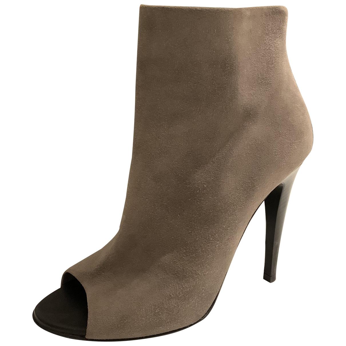 Bottega Veneta \N Suede Ankle boots for Women 38 EU