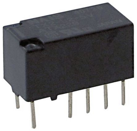 Panasonic DPDT PCB Mount Latching Relay - 2 A, 5V dc For Use In Telecommunications Applications