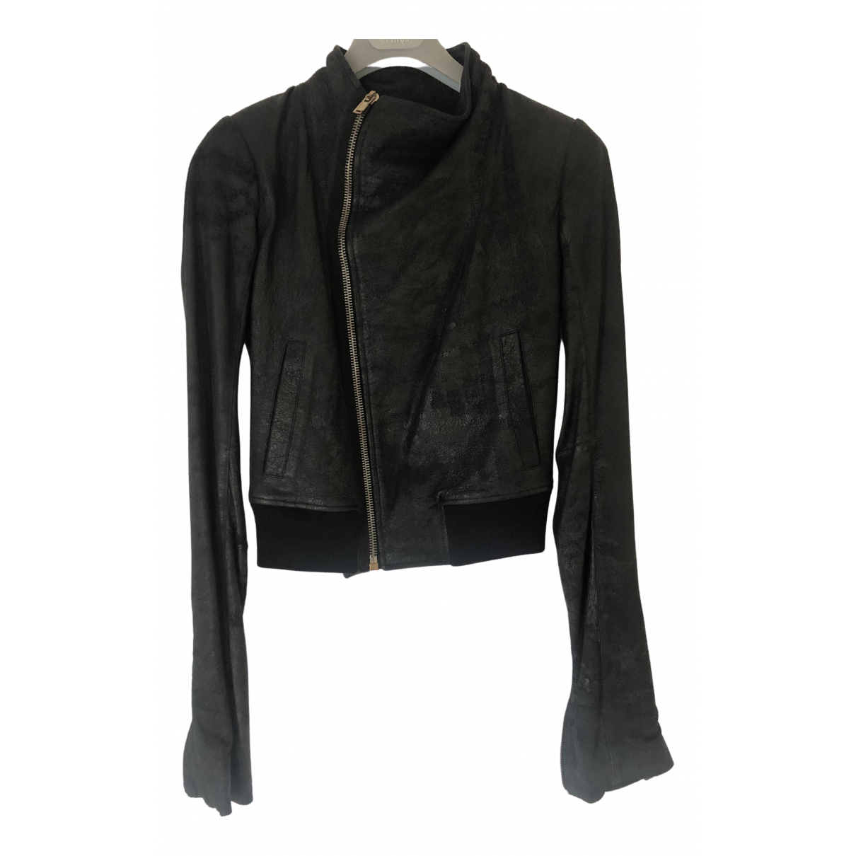 Rick Owens \N Black Leather jacket for Women 40 IT