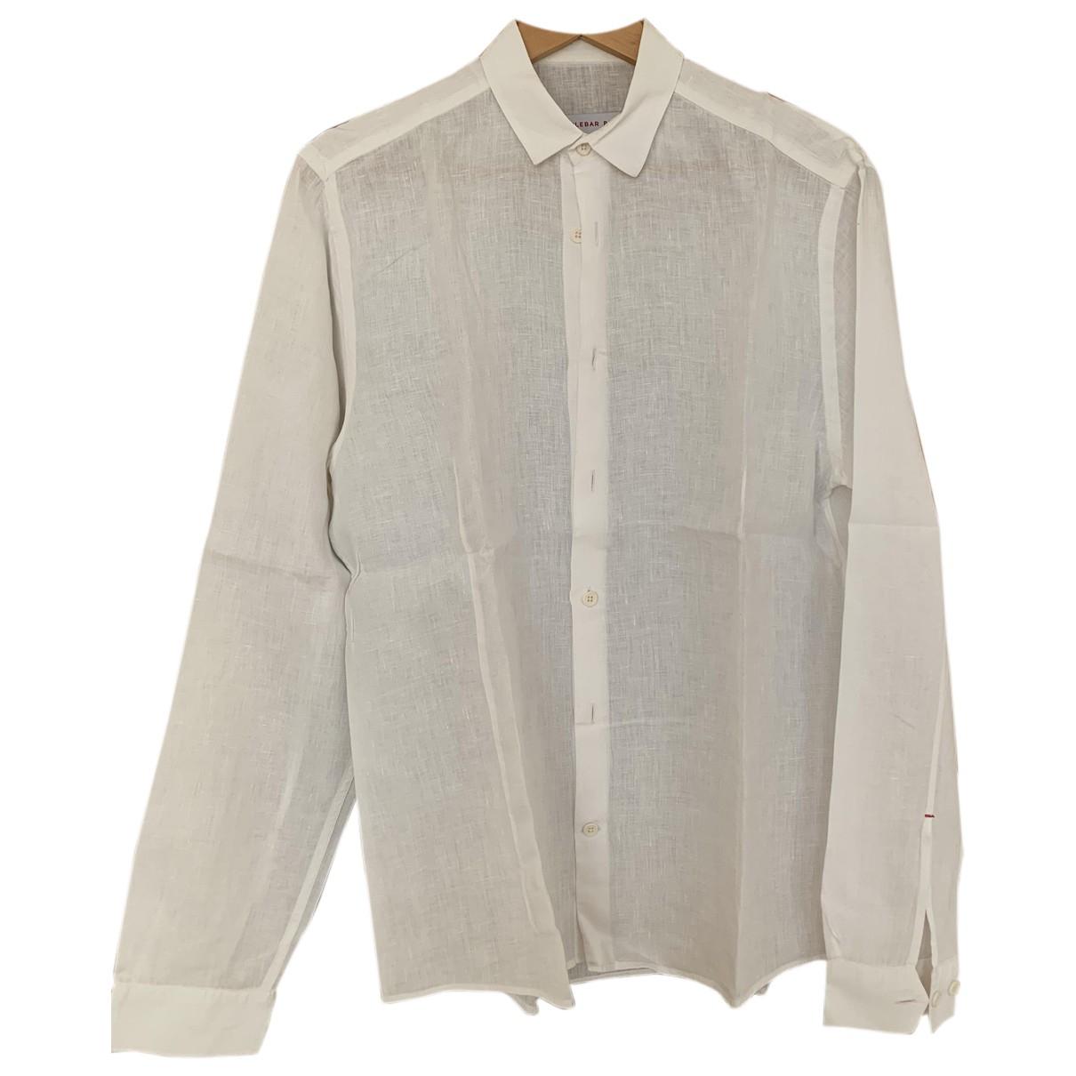 Orlebar Brown - Chemises   pour homme en lin - blanc