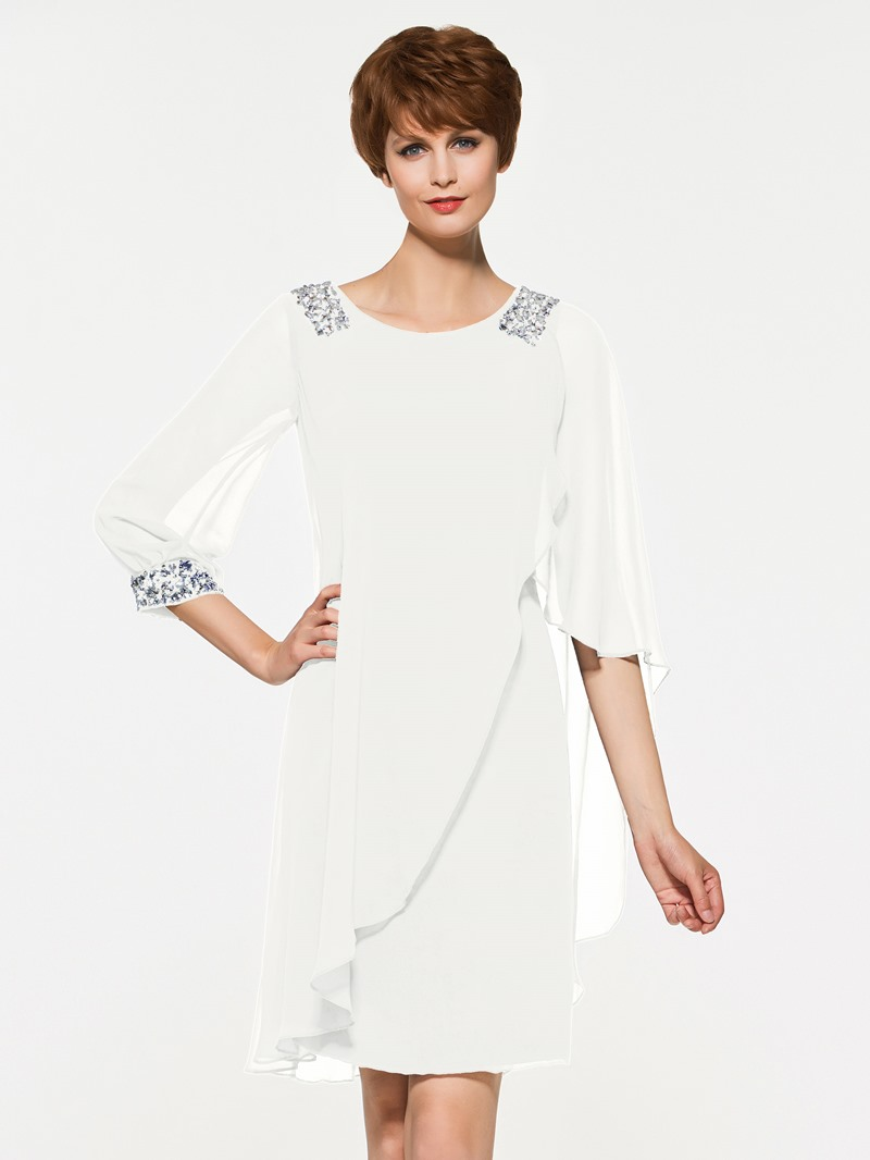 Ericdress Sheath Half Sleeves Knee Length Mother Of The Bride Dress