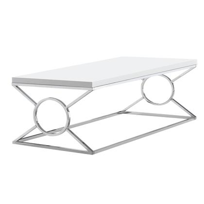 I 3400 Coffee Table - Glossy White With Chrome