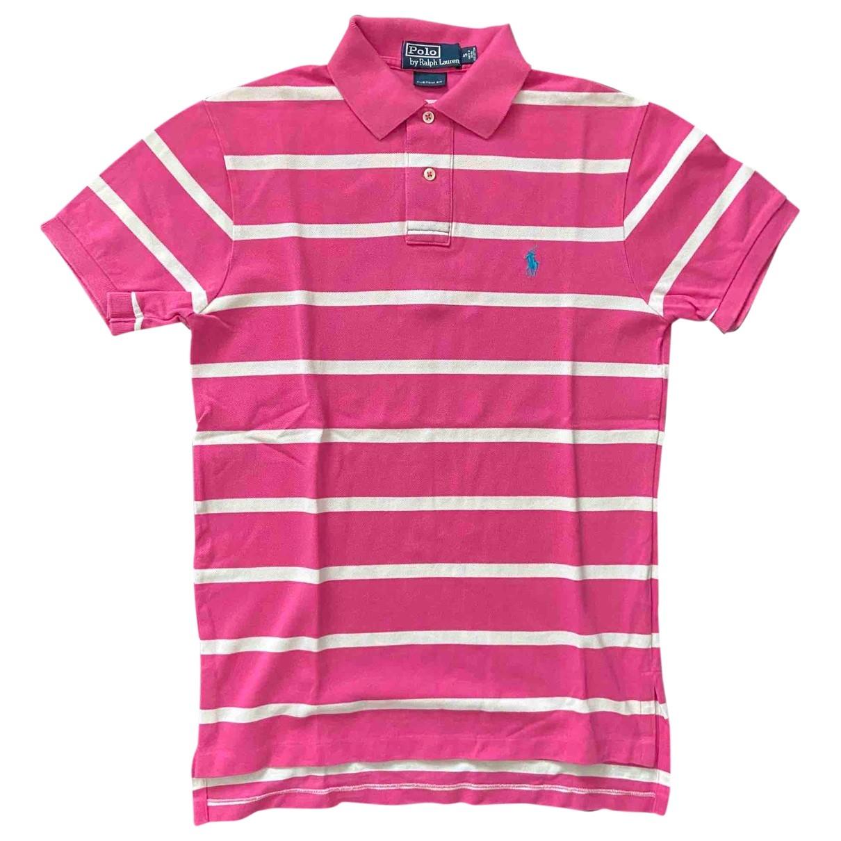 Polo Ralph Lauren - Polos Polo Rugby manches courtes pour homme en coton - rose