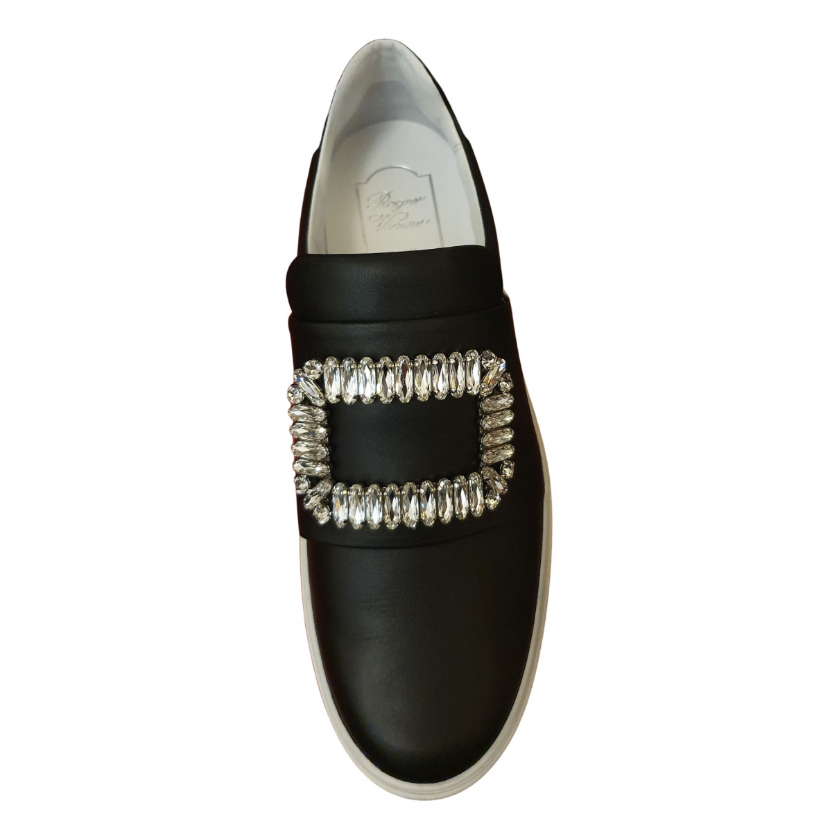 Roger Vivier N Black Leather Trainers for Women 36 EU