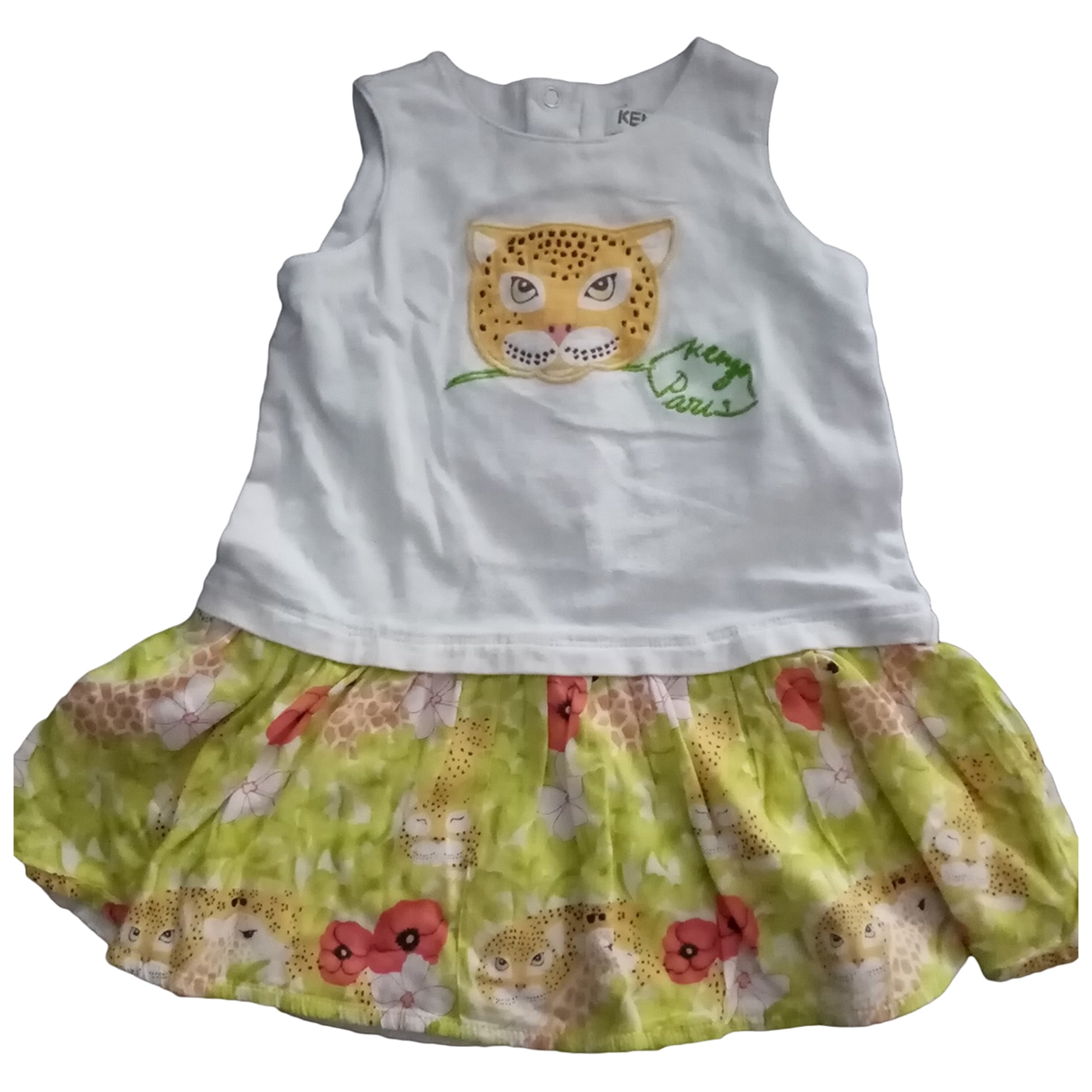 Kenzo \N White Cotton dress for Kids 12 months - up to 74cm FR