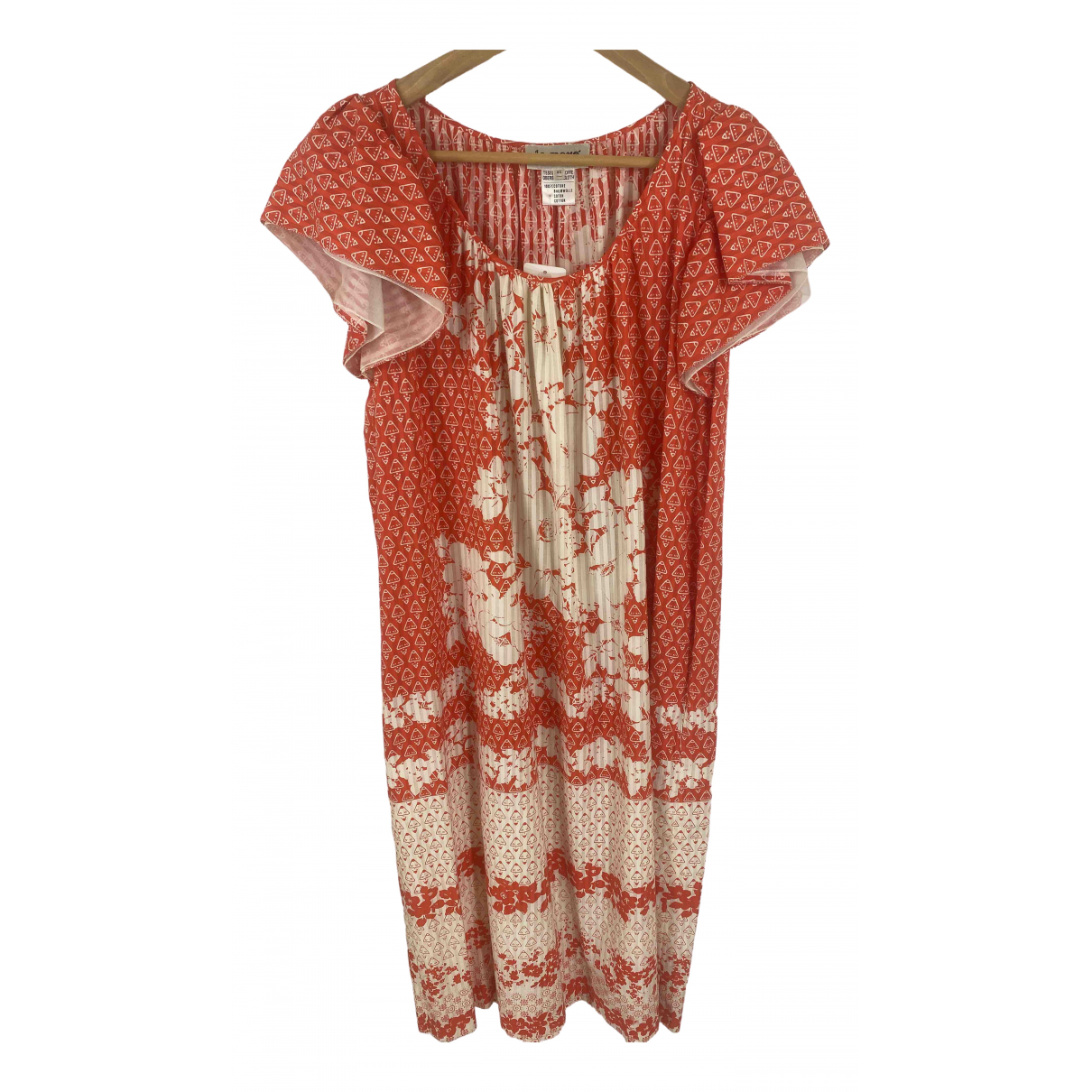 Non Signé / Unsigned Hippie Chic Red Cotton dress for Women 44 IT